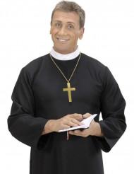 Collier croix moine doré