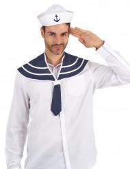 Chapeau et col bleu marin adulte
