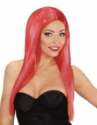 Perruque longue glamour rouge femme