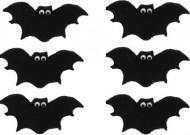 6 Mini disques en sucre chauve-souris Halloween