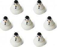 7 Mini bonhommes de neige 1,5 cm Noël