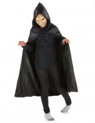 Cape noire avec capuche 95 cm enfant Halloween