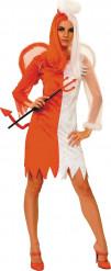 Déguisement mi-ange mi-démon femme Halloween
