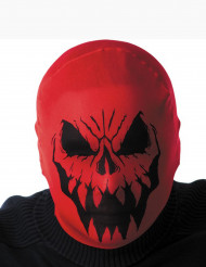 Cagoule monstre rouge adulte Halloween