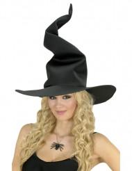 Chapeau sorcière noir tordu femme Halloween