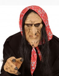 Demi masque vieille sorcière adulte
