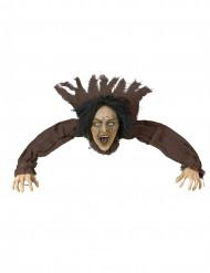 Décoration sorcière sonore et lumineuse 160 cm Halloween