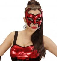 Loup démon rouge avec sequins femme Halloween