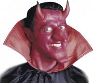 Cornes diable rouge avec colle adulte Halloween
