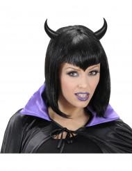 Serre tête cornes noires adulte Halloween