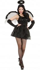 Déguisement ange noir femme Halloween