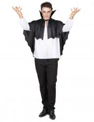 Cape vampire noire avec collerette 100 cm Halloween