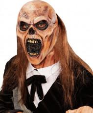 Masque zombie fossoyeur avec cheveux adulte Halloween