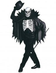 Déguisement squelette avec cape adulte Halloween
