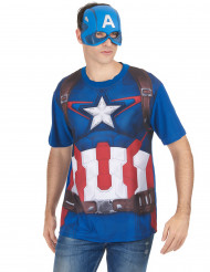 T-Shirt et masque adulte Captain America™ movie 2