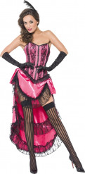 Déguisement danseuse cabaret rose sexy femme