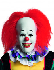 Masque en latex avec cheveux clown Ça™ adulte