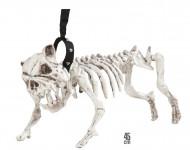 Chien squelette en laisse 45 cm Halloween