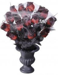 Bouquet roses rouges toile d