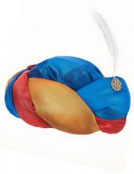 Chapeau oriental avec plume blanche adulte