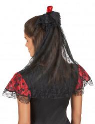 Voile avec rose rouge espagnole femme