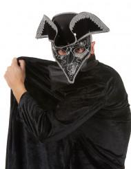 Masque vénitien avec tricorne adulte