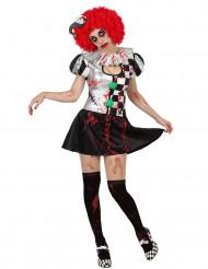 Déguisement arlequin sexy ensanglanté femme Halloween