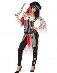 Déguisement pirate ensanglanté femme Halloween