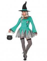 Déguisement sorcière femme vert Halloween