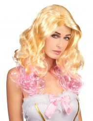 Perruque glamour blonde et rose femme