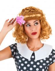 Perruque rousse rétro avec banane femme