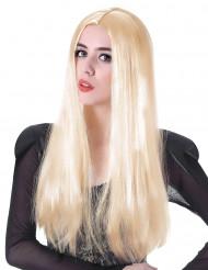Perruque longue blonde femme - 60cm