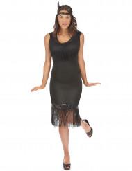 Déguisement robe Charleston noire femme