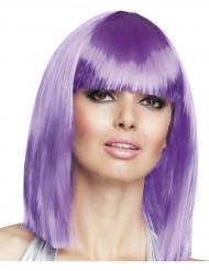 Perruque carré mi-long violette femme