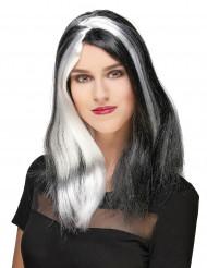 Perruque longue femme sinistre Halloween