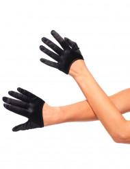 Mini gants noirs femme