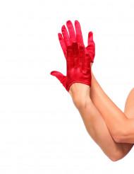 Mini gants rouges femme