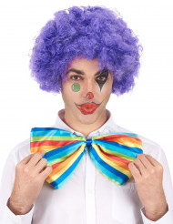 Perruque afro/ clown violette confort adulte