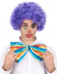 Perruque afro/ clown violette confort adulte