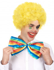 Perruque afro clown jaune adulte