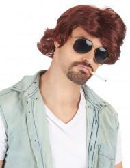 Perruque brune homme