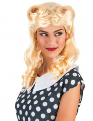 Perruque blonde boucles anglaises femme