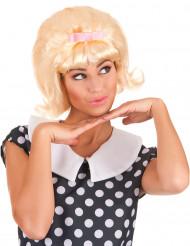 Perruque blonde starlette années 50 femme