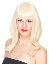 Perruque luxe blonde mi-longue femme - 170g