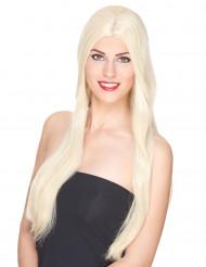 Perruque luxe blonde très longue femme