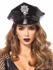 Chapeau police vinyle adulte