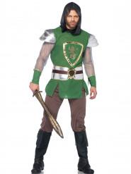 Déguisement chevalier au lion vert homme
