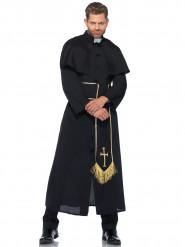 Déguisement prêtre noir homme