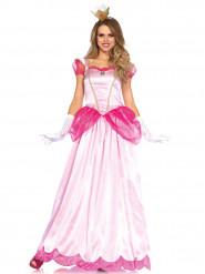 Déguisement princesse rose satiné femme