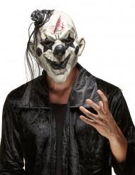 Masque clown rockeur effrayant adulte